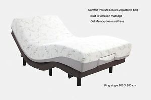Motion Essential Electric Adjustable Bed with Memory foam mattress King single