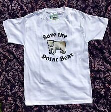 Endangered Animals / Species Save the Polar Bear Short Sleeve T-shirt Ad. Medium