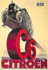 Art Ad Citroen C6 Car Auto  Deco  Poster Print