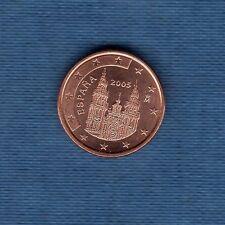 Espagne - 2005 - 1 centime d'euro - Pièce neuve de rouleau -