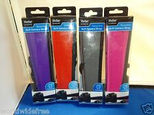 Vivitar SLR Camera Strap Gray Red fits Nikon Canon Sony Olympus Konica Minolta +