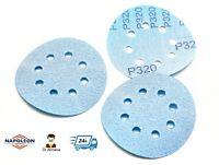 """125mm 5"""" Sanding Discs Hook and Loop Pads Sandpaper Film 80-2000 // 8 Hole //"""