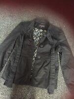 New Look Size 10 Black Jacket Summer Coat