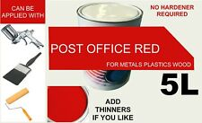 RED PAINT post office pillar box 5L single pack Synthetic metal plastic BS 538