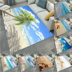 Tropical Beach Scenery Yoga Carpet Floor Mat Bedroom Living Room Home Area Rugs