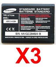 Lot Of 3 Samsung Ab503442Ba Batteries For A127, T509, T509S, R500, A125 A129