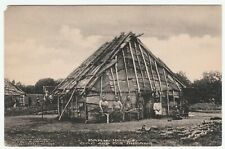 RARE Postcard BARK HOUSE SAC FOX INDIANS Cornish photo 1907 Kansas plains tribes