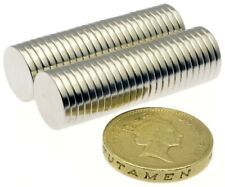 """Very Strong Magnets (1/2"""" x 1/16"""") * Pull 1.25Kg * Powerful Disc 12mm Magnet"""