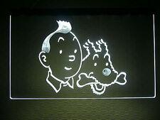 Lampe Luminaire Enseigne lumineuse à Led Tintin et Milou,Tim und Struppi, Snowy