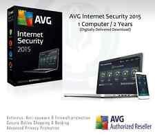 AVG Internet Security 2015 - 1 computer / 2 ANNI PROTEZIONE | Codice di licenza solo