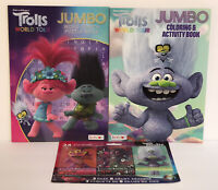 3 Pc Trolls World Tour Gift Set: Jumbo Coloring & Word Search Books & 24 Crayons