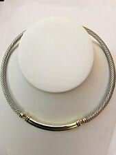 David Yurman 925 14k Yellow Gold Metro Double Cable Choker Necklace