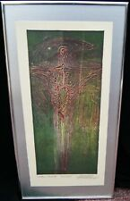 "Richard Benda ""Unique Viscosity - Ecce Homo"" Signed Lithograph Abstract 1977"