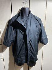 Mizuno short sleeve windbreaker jacket Size Medium Black
