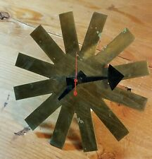Vtg 50s Brass Mid-Century 'Asterisk' Clock George Nelson for Howard Miller.