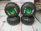 """(4) REPLACEMENT """"TIRE & RIM ONLY"""" FOR MONSTER JAM MEGA GRAVE DIGGER RC TRUCK"""