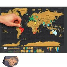 Scratch Gift Journal Off Giant Map Of World World Deluxe Map The Log Poster