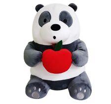 "We Bare Bears 10"" Sitting Panda Rag Stuff Plush Doll Soft Toy Gift Cute Design"