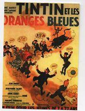 Carte Postale Tintin. Affiche de Tintin et les Oranges bleues - 2016