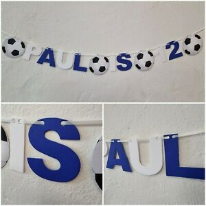 Personalised Football Chelsea Birthday Bunting Party FC Banner 1st