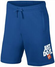 Nike Mens Sportswear Just Do It Fleece Shorts  Blue L $35