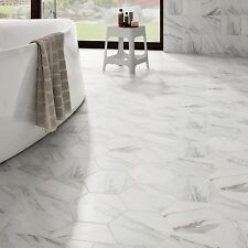 SomerTile 8.625x9.875-inch Marmol Hex Porcelain Floor And Wall Tile (Case Of 25)