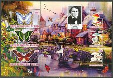 Chad 2010 Butterflies & Mushrooms VII Birds Flowers Sh of 6 MNH** Privat !