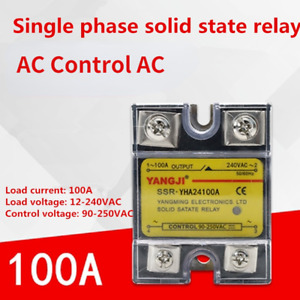 Single-phase Solid State Relay AC-AC AC Control AC YHA24100A 240VAC 100A