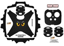Carbon Fiber Eyes DJI Phantom 4 P4 Skin Wrap Decal Sticker Vinyl Ultradecal