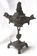 """LATE C19TH FRENCH CAST METAL INCENSE BURNER SIGNED """" MEUNIER """""""