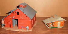 HO scale Barn and Out Building for model railraod layout lot of 2