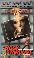 "DAVID BOWIE BOXED VHS TAPE - ""ZOGGY STARDUST"" - D.A.PENNEBAKER FILM -  (1988)"