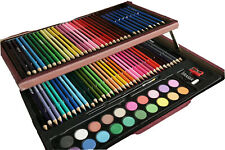 91Wooden Box Kit Colored Pencils Sketching Pencils Water Color Paint Art Supply