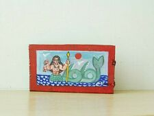 Greek mermaid painting, Greek folk art mermaid on salvaged wood
