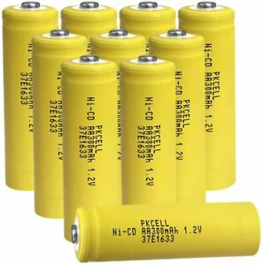AA Rechargeable Battery NiCD 1.2v 300mAh for Pathwalk Solar Lights Button Top 12