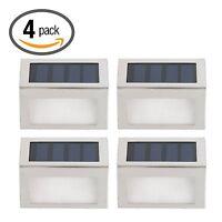 4xSolarlampe Treppen LED Außenleuchte WANDLAMPE Solarleuchte Gartenyardlampe Neu