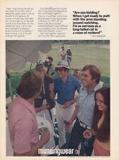 1973 Dallas Cowboys Don Meredith Golfing photo Munsingwear Sportswear print ad
