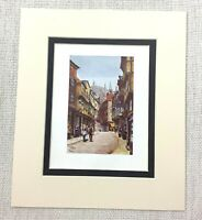 1906 Antique Print City of York Stonegate Street Town Old English Architecture