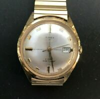 Vintage TIMEX 5544 21 Jewels Water & Dust Resistant Wind-Up 33mm Watch - Working
