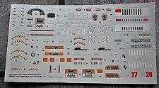 DECALS 1/24 FERRARI 412 T2 ALESI BERGER 1996 FOR KIT 07207-0240 REVELL