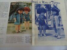 T12 PATRON POUPEE M FRANCOISE /& TRAVAUX IMPERMEABLE ET CHAPEAU MARS  1980