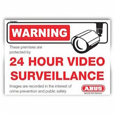 ABUS CCTV Alarm House Window Warning Sticker.-FREE POST (TVSIGN01)