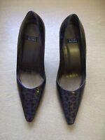 Details zu Ladies Shoes Gabor greenbeige leather snakeskin, size UK 4, EU 37, UNUSUAL 3156