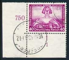 D.Reich Nr. 507 FN gestempelt, Eckrand Formnummer 1, BPP-KURZBEFUND (72931)