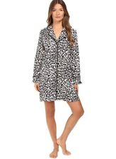 NWT Kate Spade NY M Medium Brushed Cotton Sleepshirt $88 ROSE BLACK CHEETAH