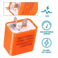12V 2 Pin Adjustable LED Flasher Relay For Motorcycle Turn Signal Blinker Light