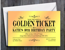 40 PARTY INVITATIONS PERSONALISED 18th 21st 30th 40th 50th 60th Birthday Invites