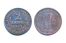 2 Centimes 1911 Dupuis. Bronze. SUP-SPL