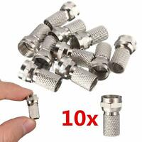 10x F Plug Connector Satellite RG6 Virgin SKY TV Screw Twist Coax Cable Aerial