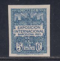 BARCELONA (1929) NUEVO SIN FIJASELLOS MNH ESPAÑA - EDIFIL 1s (5 cts) SIN DENTAR